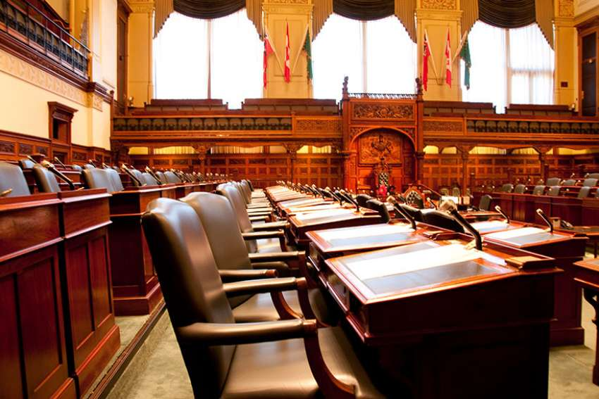 The majority Liberal government has voted down an amendment introduced by the opposition to incorporate conscience protection into the province's assisted suicide legislation April 12.