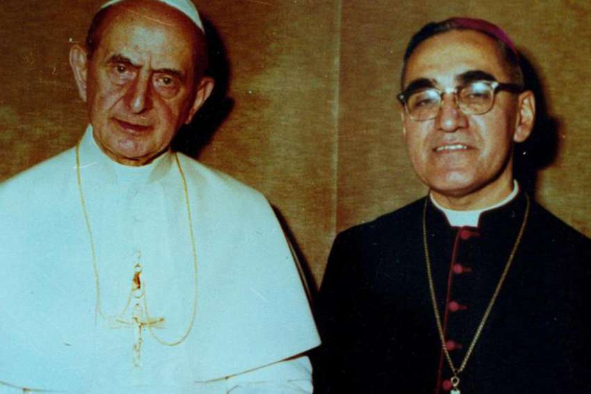 Msgr. Oscar Romero and Pope Paul VI in 1978.
