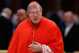 Australian Cardinal George Pell, pictured here at the Vatican in 2015, was questioned by Australian police in Rome regarding accusations of alleged sexual abuse.