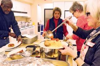 Out of the Cold guests credited the staff, such as these volunteers from York Region's OOTC program, for making them feel welcome at OOTC sites in Toronto.