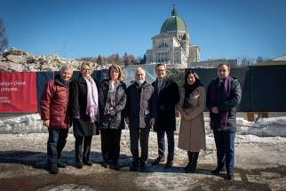 St. Joseph Oratory in Montreal, Canada, is about to get a $110 million makeover under a plan to make the popular site more attractive to tourists. Canadians involved in the project are pictured near the oratory.
