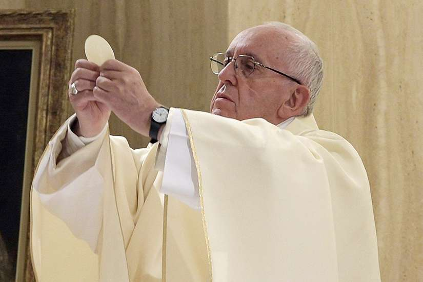 "Pope Francis celebrates Mass Sept. 27 in the chapel of the Domus Sanctae Marthae at the Vatican. Scandal is ""capable of killing: killing hope, killing illusions, killing families, killing so many hearts,"" Pope Francis said."