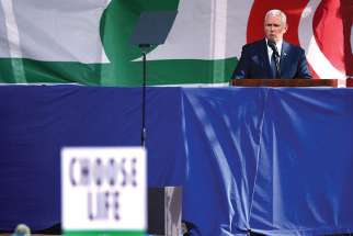 U.S. Vice President Mike Pence speaks during a rally at the annual U.S. March for Life in Washington Jan. 27.
