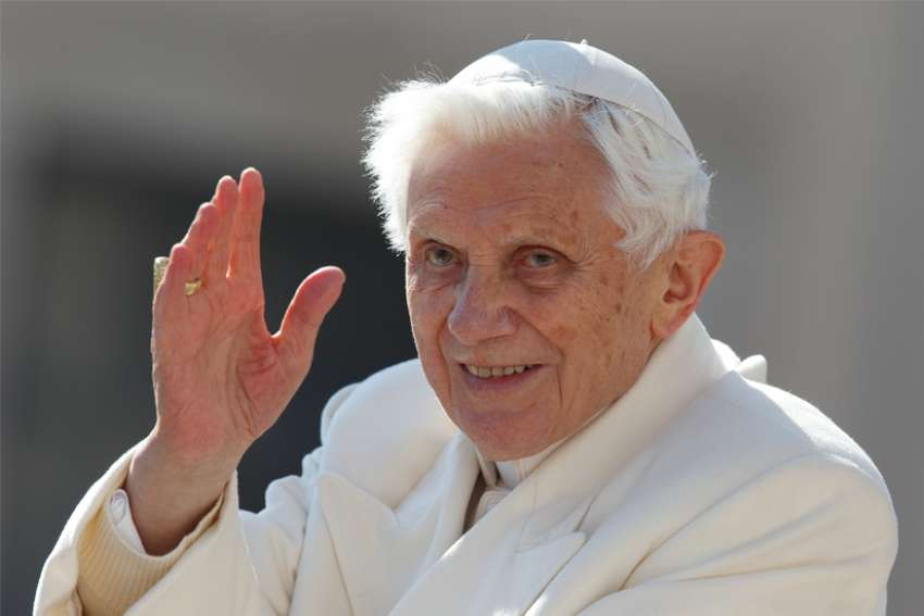 Retired Pope Benedict XVI, pictured in a 2013 file photo.