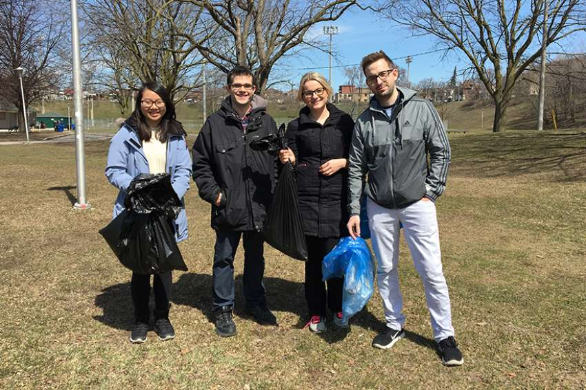 A group of Toronto youth spent their morning cleaning up a local park in celebration of Earth Day.