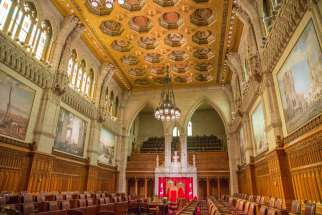A photo of the Senate Chamber July 2014. The Senate passes the amended Bill C-14, which makes assisted suicide more accessible, on June 15