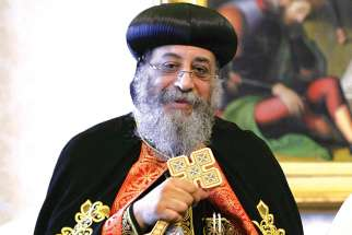 Pope Tawadros II, head of the Coptic Orthodox Church and Patriarch of the See of St. Mark.