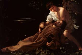 Caravaggio: Saint Francis of Assisi in Ecstasy (c. 1595)