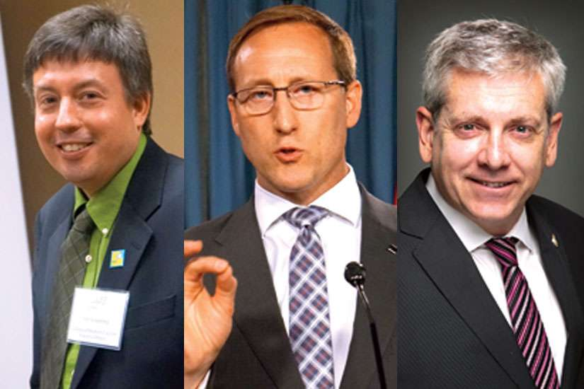 There have been a number of calls to override the Supreme Court's decision on assisted suicide with the notwithstanding clause. Alex Schadenberg of the Euthanasia Prevention Coalition, left, has launched an online petition calling for its use, though Justice Minister Peter MacKay (centre) says his government is unlikely to go that route. Meanwhile, NDP MP Charlie Angus, right, says the government needs to act on his motion to bring in a pan-Canadian palliative care strategy.