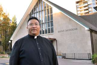 Fr. Damian Young-Sam-You said that donations large and small help to grow parishes like St. Monica's in Toronto.