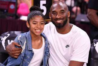 Retired NBA legend Kobe Bryant and his daughter Gianna, 13, were among nine people killed Jan. 26, 2020, in a helicopter crash in Calabasas, Calif. The two Catholics are pictured during the WNBA all-star game in Las Vegas July 27, 2019.