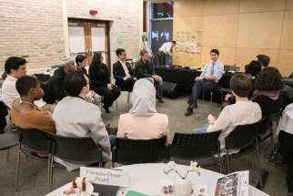 Prime Minister Trudeau meets with his Youth Council, a group of young Canadians who provide non-partisan advice to the Prime Minister and the government.