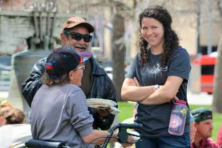 Winnipeg native Abby Pyrz, right, met with many homeless people during her two years serving at Christ in the City in Denver.