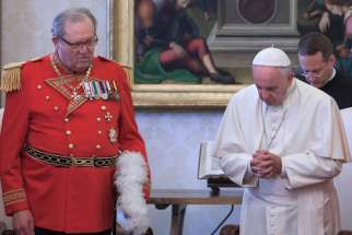 After the resignation of Grand Master Matthew Festing, left, the Order of Malta has appointed an interim leader and reinstated their former Grand Chancellor, Albrecht Freiherr von Boeselager.