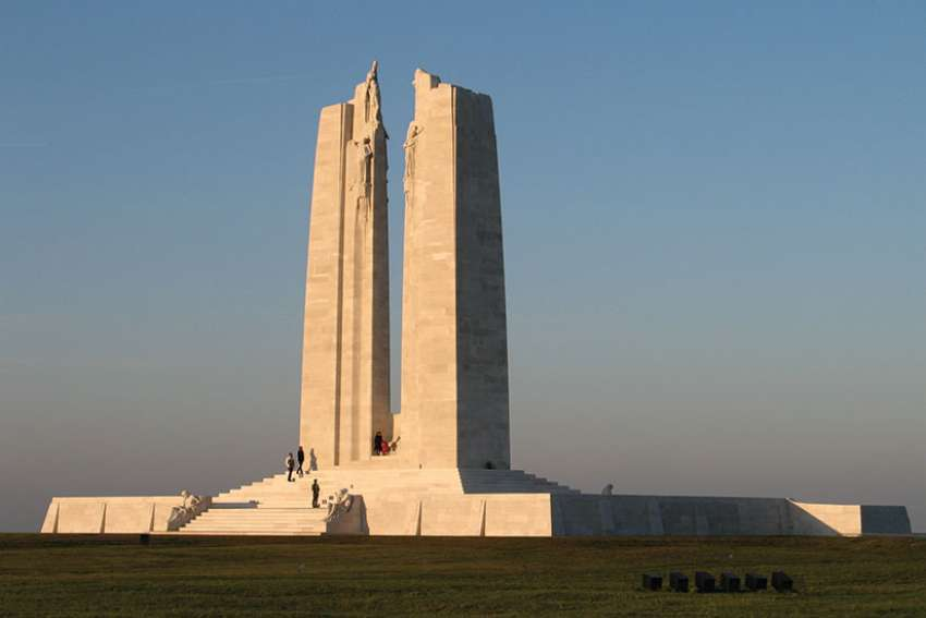The memorial at Vimy Ridge, site of the epic First World War battle where it is said that Canada came of age as a nation.