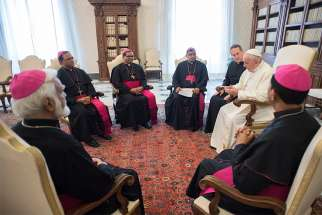 "Pope Francis met the bishops of Pakistan March 15 during the bishops' ""ad limina"" visits to the Vatican. Afterward, Archbishop Joseph Arshad of Islamabad-Rawalpindi told Vatican News the bishops hope that somehow Pope Francis could visit their nation."