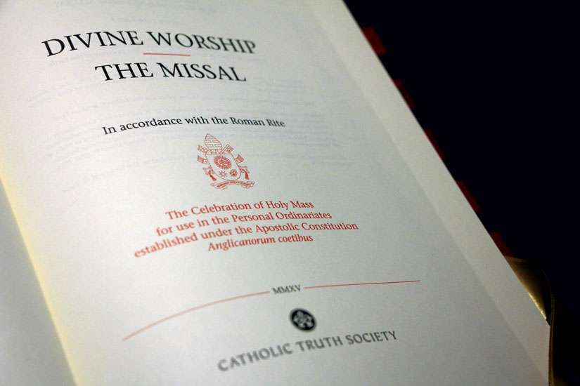 Beginning the first Sunday of Advent, former Anglicans welcomed into the Catholic Church will have their own missal.