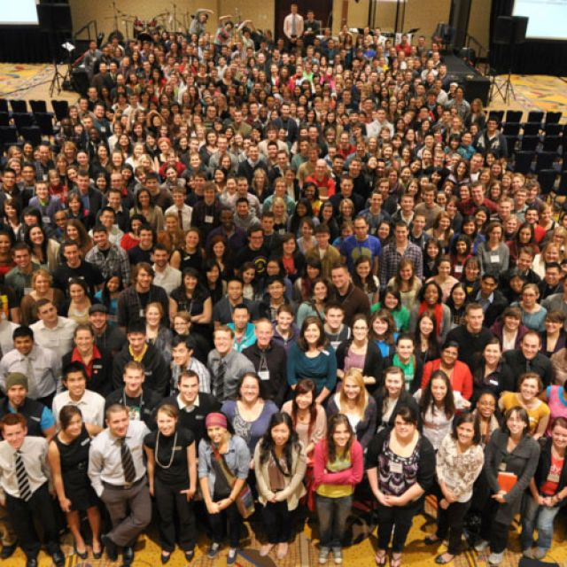 Participants gather at Catholic Christian Outreach's 2011 Rise Up Conference in Vancouver.