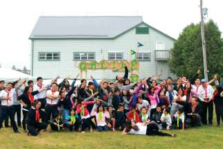 Members of the Vietnamese Eucharistic Youth Movement clown around at this year's annual summer camp.