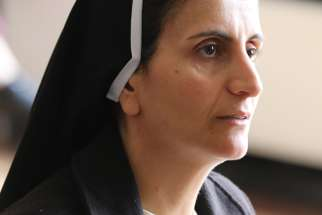 Dominican Sister Luma Khudher of Iraq is pictured in an early October photo in Chester, England. At a Dec. 4 ecumenical service at Westminster Abbey, Britain's Prince Charles spoke of how he was deeply moved by the testimony of Sister Luma, who fled Islamic State militants but has returned to the Ninevah Plain to help re-establish the Christian presence.