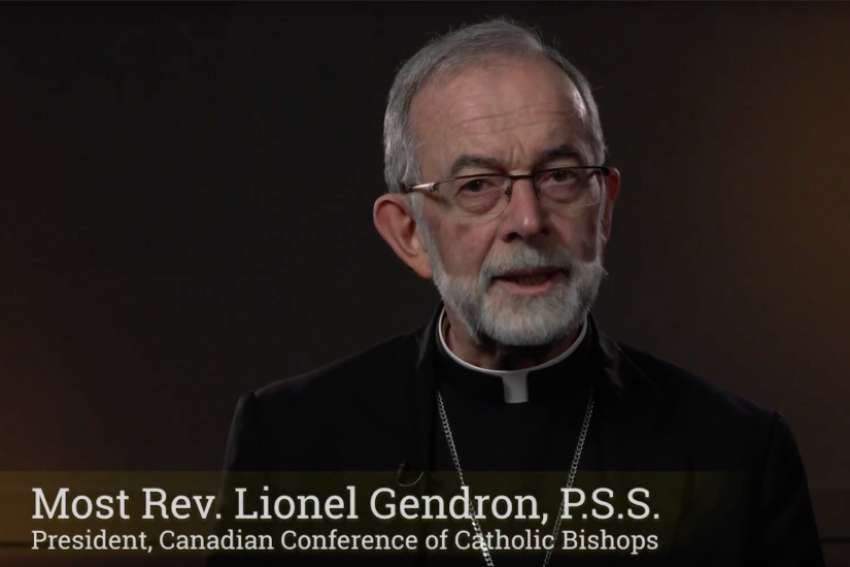 CCCB president bishop Lionel Gendron presents a new sexual abuse document in an introduction YouTube video.