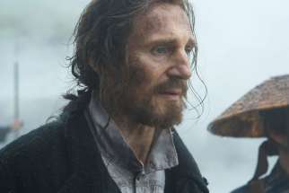 "Liam Neeson stars in a scene from the movie ""Silence."""