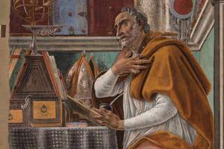 St. Augustine in His Study (circa 1480) by Renaissance artist Sandro Botticelli.