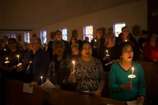 Yonge St. churches gathered for an multi-faith prayer service at St. Edward the Confessor Parish Apr. 27. The church is located just blocks from the van attack that killed 10 pedestrians on Yonge St.