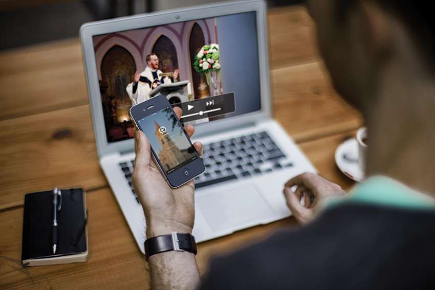 Priests feel growing need to link to technology, like social media, podcasting and livestreaming, to ensure that the Church keeps up with the Digital Age.