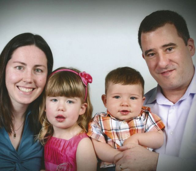 Laurie and Justin Mullin along with their kids Emily and Daniel.
