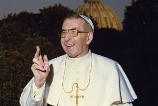 Pope John Paul I, known as the smiling pope, is pictured at the Vatican in 1978. Pope Francis has advanced the sainthood cause of Pope John Paul I with a decree recognizing his heroic virtues.