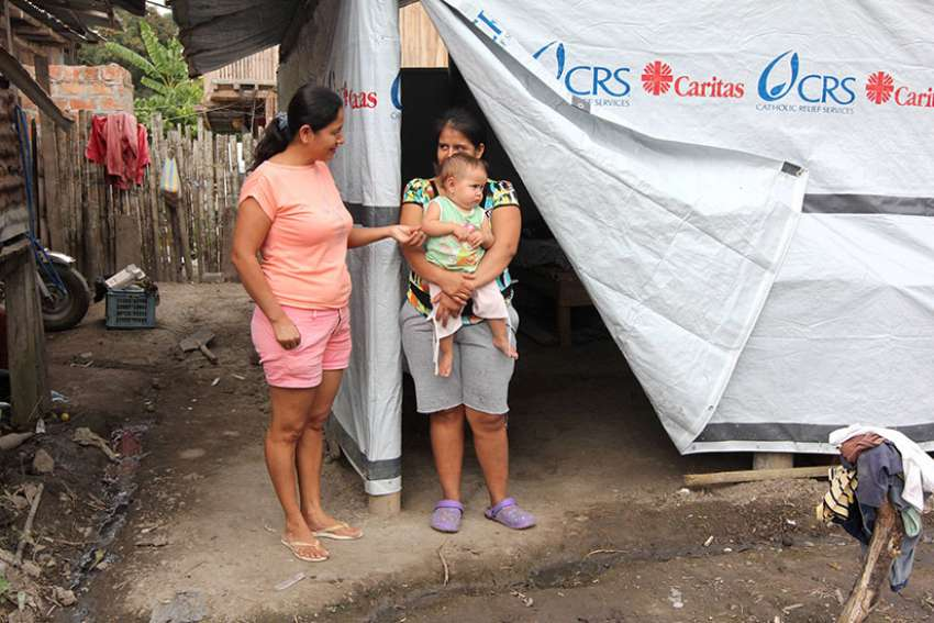 Almost one year after the devastating earthquake hit Ecuador, many people are still homeless or living in temporary living conditions.