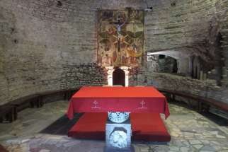 Basilica of Sts. Nereus and Achilleus, an underground altar where the Catacombs Pact was signed at a Mass on Nov. 16, 1965
