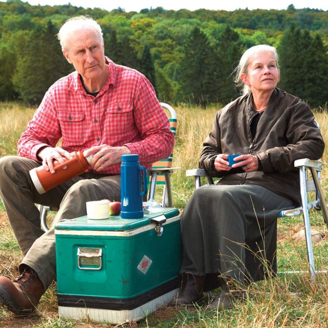 Academy Award nominees James Cromwell and Geneviève Bujold as Craig and Irene Morrison in Still Mine.