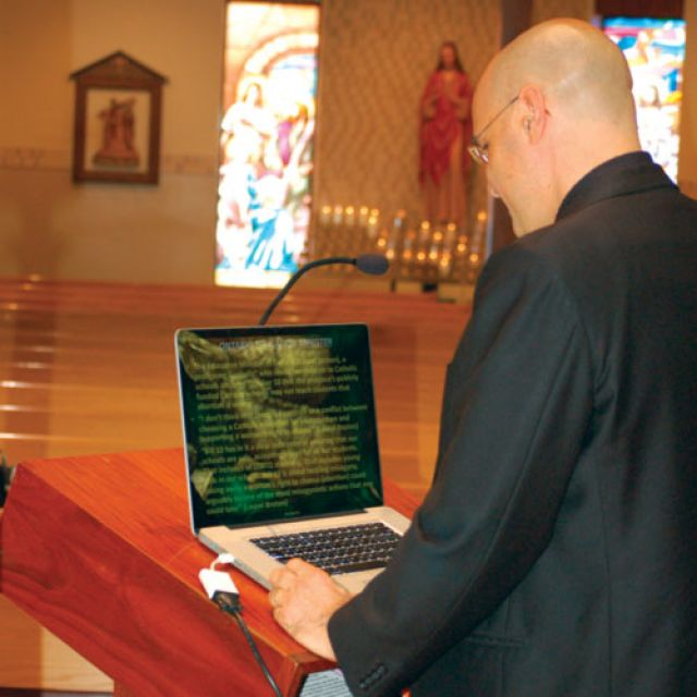 Priests like Fr. Mario Salvadori are using digital technology to reach out, but there is a feeling among many that more needs to be done.
