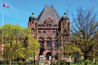 The Ontario Provincial Legislature at Queen's Park in Toronto.