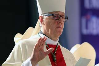 Canadian Bishop Noel Simard of Valleyfield, Quebec, president of the Assembly of Catholic Bishops of Quebec, said the main Quebec organizer for the May 9, 2019, National March for Life in Ottawa went too far in accusing Pope Francis of heresy. Bishop Simard is pictured in a July 22, 2018, photo.