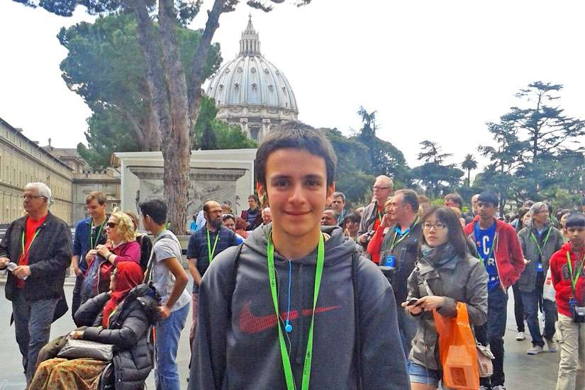 Vincent travelled to Rome during Holy Week last year on an annual school trip organized by Brebeuf College School.