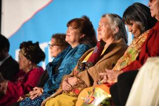 Female religious leaders at the 2015 Parliament of World Religions in Salt Lake City, Utah.