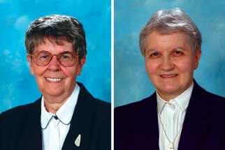 Sr. Berta Laforest, left, and Sr. Yvette Rivard.