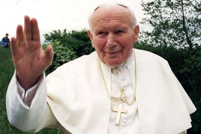 During his 1999 trip to back to Poland, Pope John Paul II takes a private boat ride in Wigry, a place he used to go kayaking as a young priest.