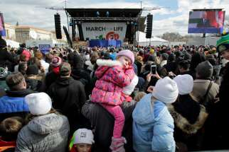 Pope Francis offered his greetings and prayers to the participants at the March for Life in Washington D.C. Jan. 27.