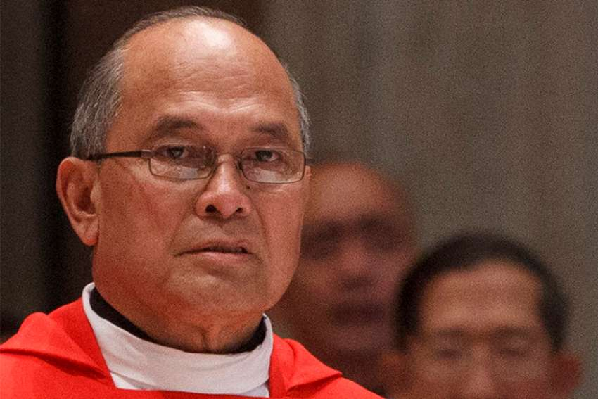Now-former Archbishop Anthony S. Apuron of Agana, Guam, is pictured in a 2012 photo at the Vatican. The Vatican's Congregation for the Doctrine of the Faith has rejected an appeal by the former archbishop, upholding its judgment of finding him guilty of abuse against minors.