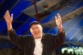 Jean Vanier, founder of the L'Arche communities, is pictured in a May 2, 2014, photo.