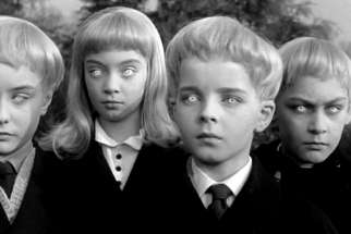 "A scene from the 1960 movie, ""Village of the Damned"""