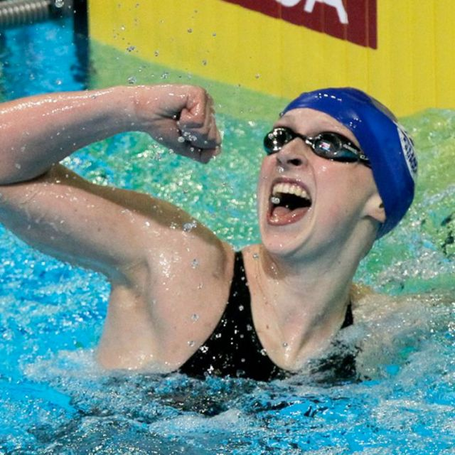 Katie Ledecky will represent the US in the 800-meter freestyle race at the 2012 Summer Olympics in London.