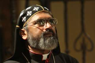 Syro-Malankara Bishop Thomas Eusebios Naickamparambil is seen during a service in 2013 at Immaculate Conception Seminary in Huntington, N.Y. On Jan. 4 Pope Francis appointed Bishop Naickamparambil the first bishop of the newly erected eparchy of St. Mary, Queen of Peace, of the U.S. and Canada.