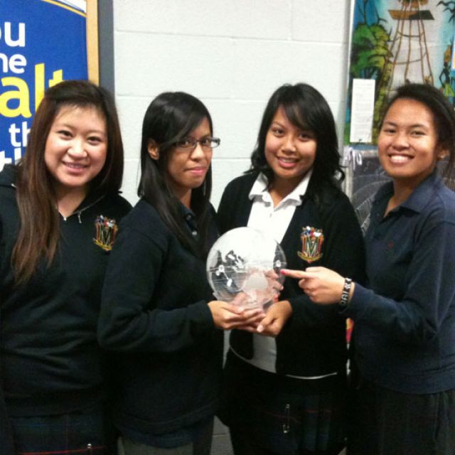 From left to right: Marshall McLuhan students Meghan Musngi, Hannah Fabro, Camille Silverio and Ninivette Vergara.