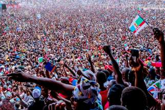 Supporters of the All Progressives Congress political party attend a campaign rally in Taraba, Nigeria, Feb. 7, 2019, ahead of the presidential elections. Nigerian bishops are urging voters to reflect and pray ahead of the country's Feb. 16 elections.