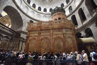 During the recent restoration project of Jesus' tomb at the Church of the Holy Sepulcher in Jerusalem, scientists determined that the holy site is at risk of collapsing due to its unstable foundation.
